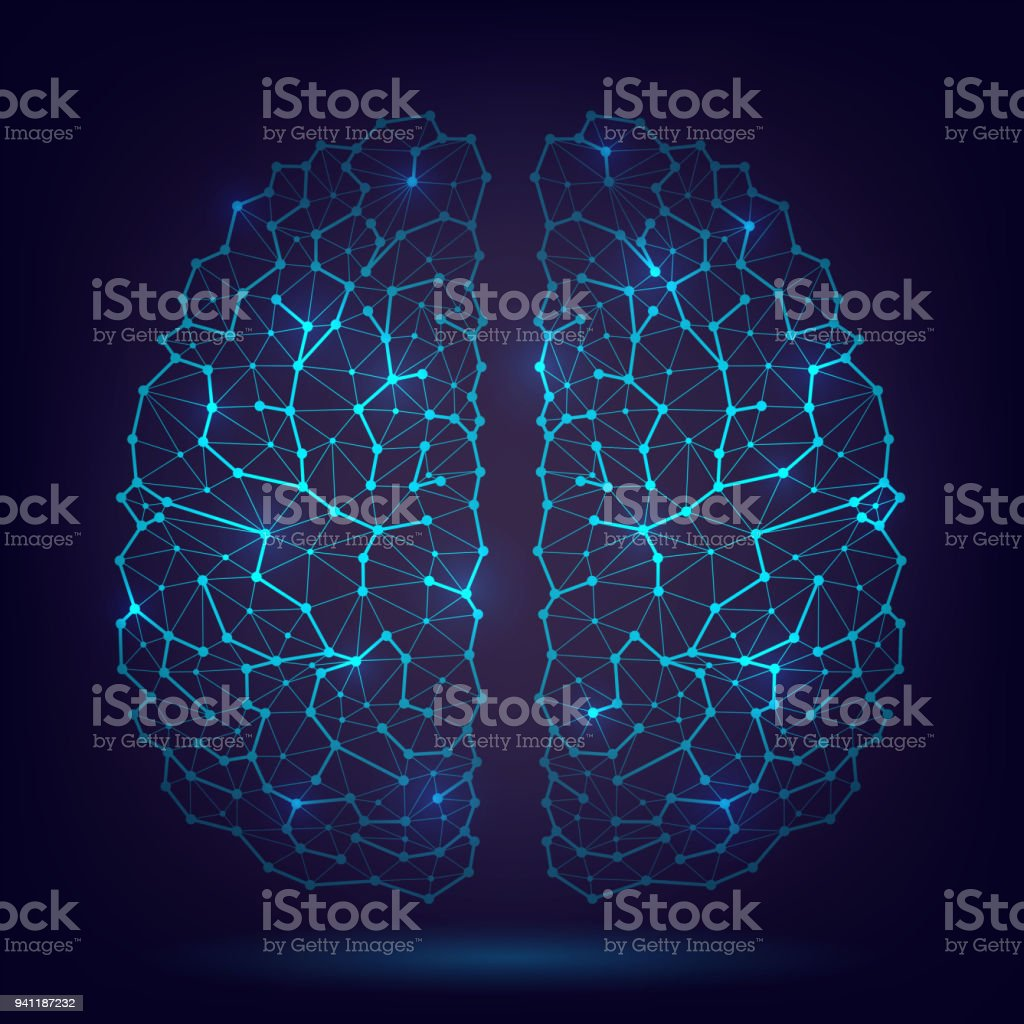 Das Menschliche Gehirn Neuronen Und Axonen Stock Vektor Art und mehr ...