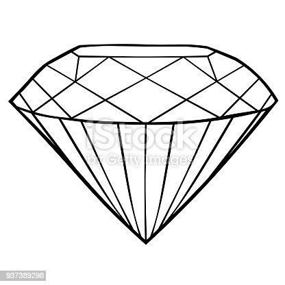 Ilustración de El Icono Para Colorear Joya De Diamante Ilustración ...