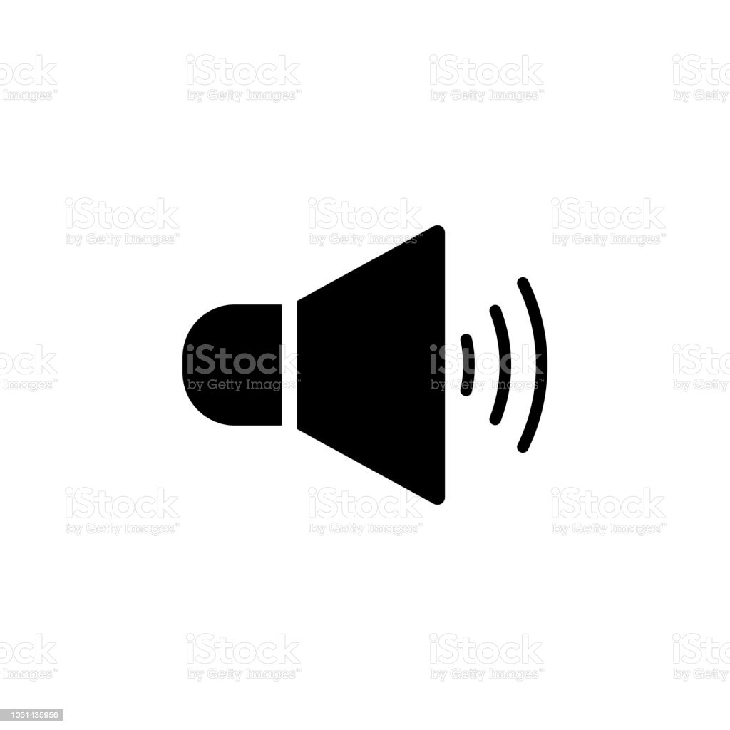 The Icon Of Speaker With Sound Symbol Sign Simple Glyph Icon