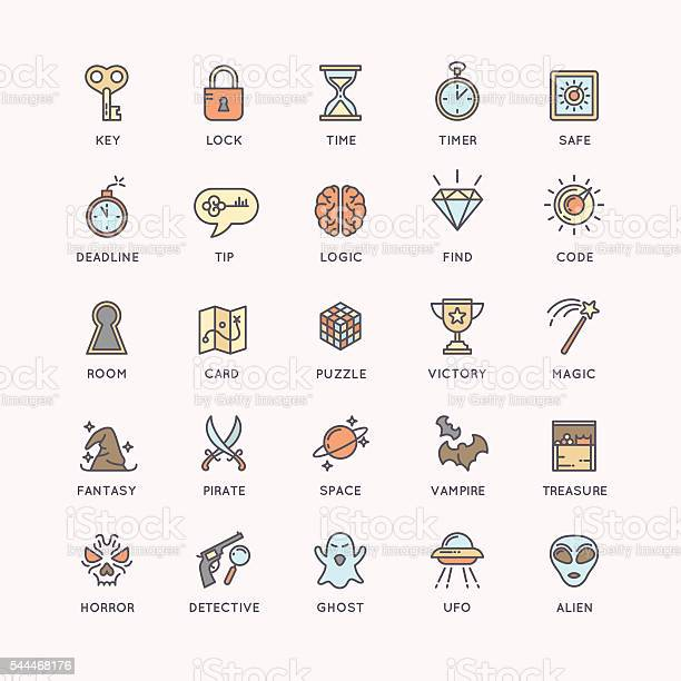 The icons set for the quest room vector id544468176?b=1&k=6&m=544468176&s=612x612&h=o0d 0irhftdcz 6nt9b0fn1y3odrupirlr fueef1nq=