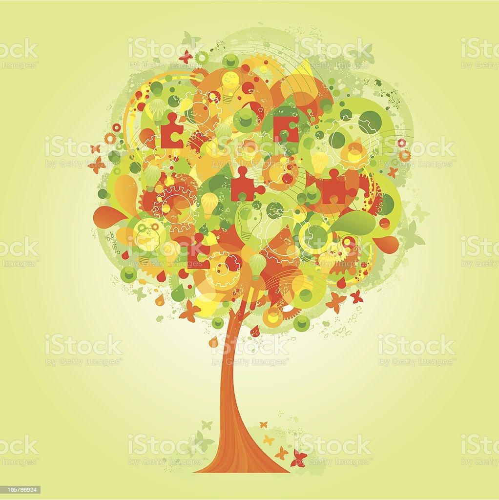 The ideas tree royalty-free stock vector art