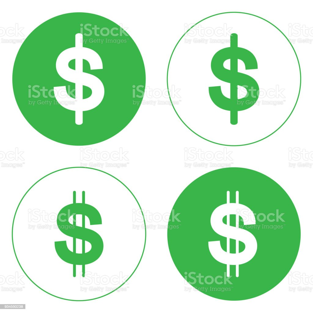 The Illustration Is A Dollar Symbol Icon Can Be Used In Various