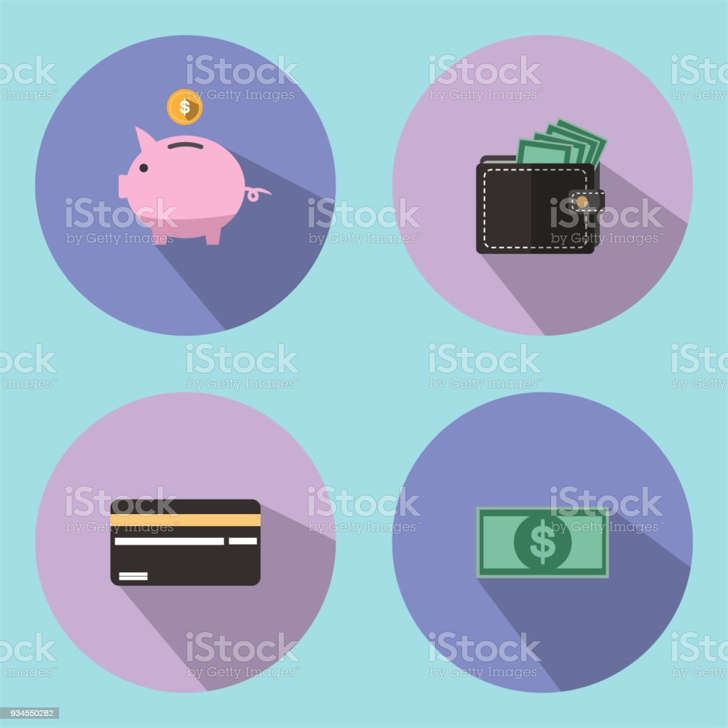 The illustration is an icon and a savings symbol, such as a drop of a piggy bank. Can be used as a background wallpaper or decorate in print.