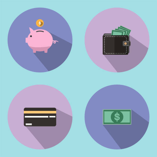 The illustration is an icon and a savings symbol, such as a drop of a piggy bank. Can be used as a background wallpaper or decorate in print. The illustration is an icon and a savings symbol, such as a drop of a piggy bank. Can be used as a background wallpaper or decorate in print. change purse stock illustrations