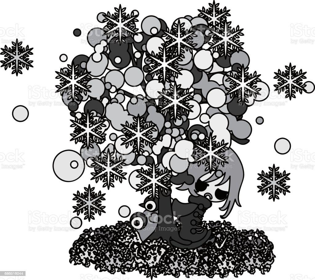 The illustration of winter the illustration of winter - immagini vettoriali stock e altre immagini di adulto royalty-free
