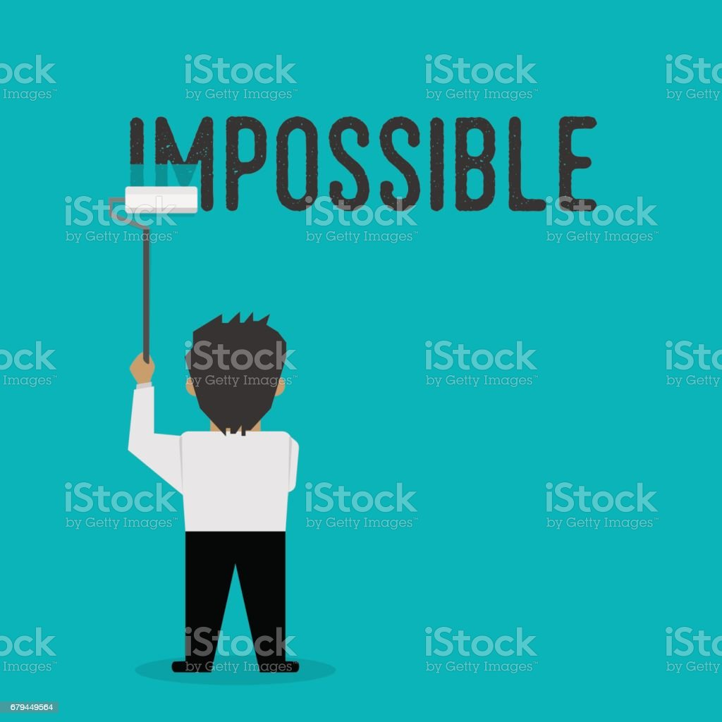 The impossible is possible, the illustration demonstrates the motivation royalty-free the impossible is possible the illustration demonstrates the motivation stock vector art & more images of achievement