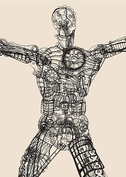 The inner transparency. Body, mind, spirit. vector art illustration