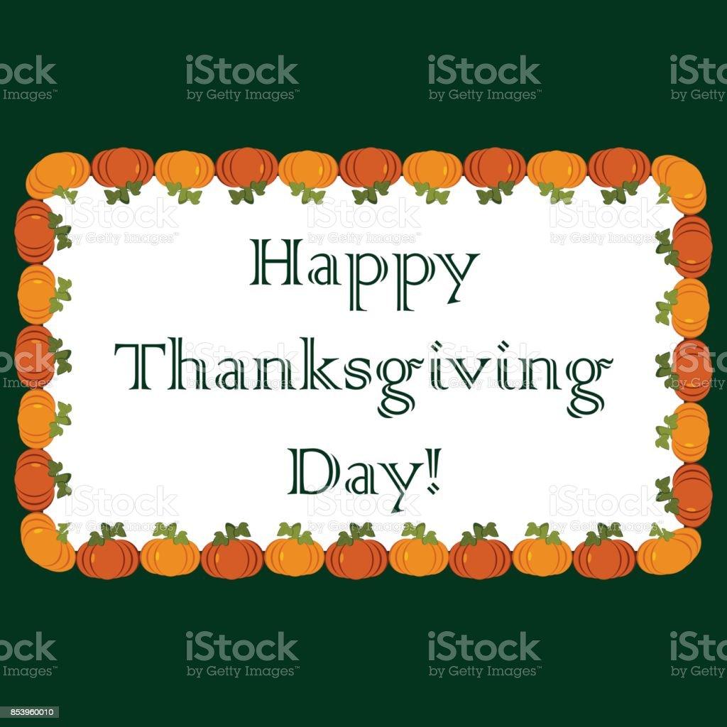 La Inscripción De Feliz Día De Acción De Gracias En Un Fondo Blanco ...