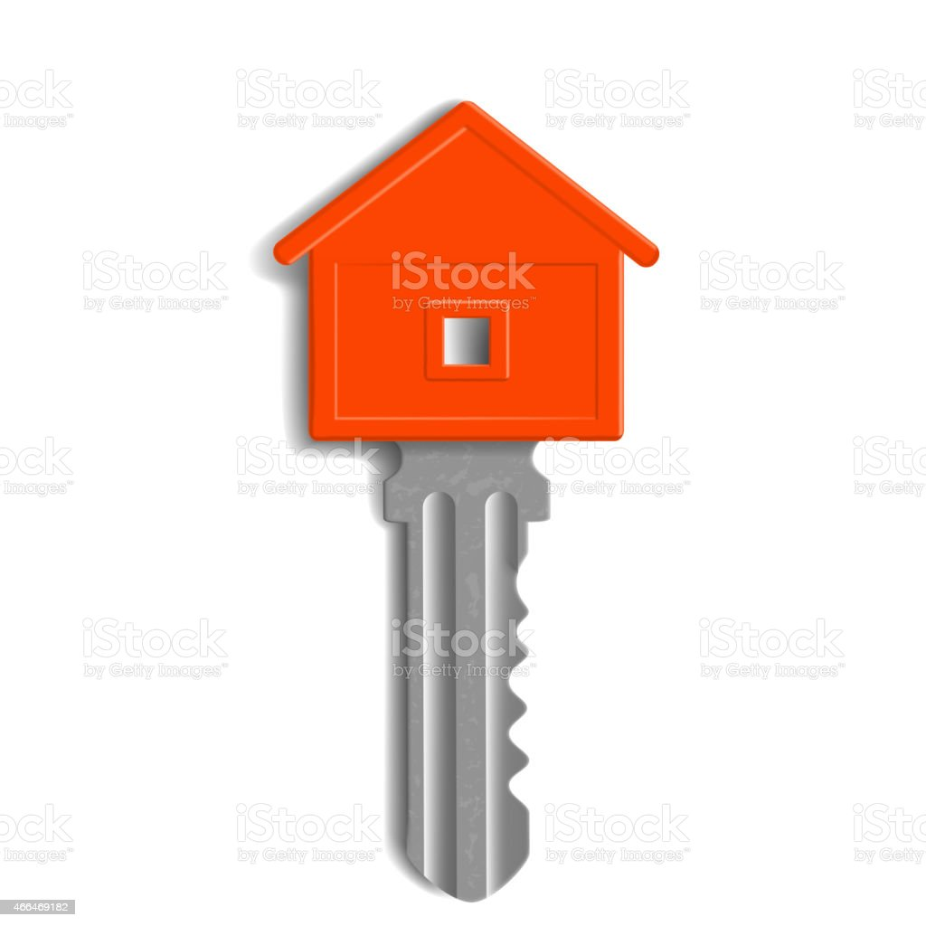 the key to the lock in the form of house vector art illustration