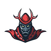 The king mascot logo of ancient kingdom in emperor age, illustration concept style for badge, emblem and t shirt printing