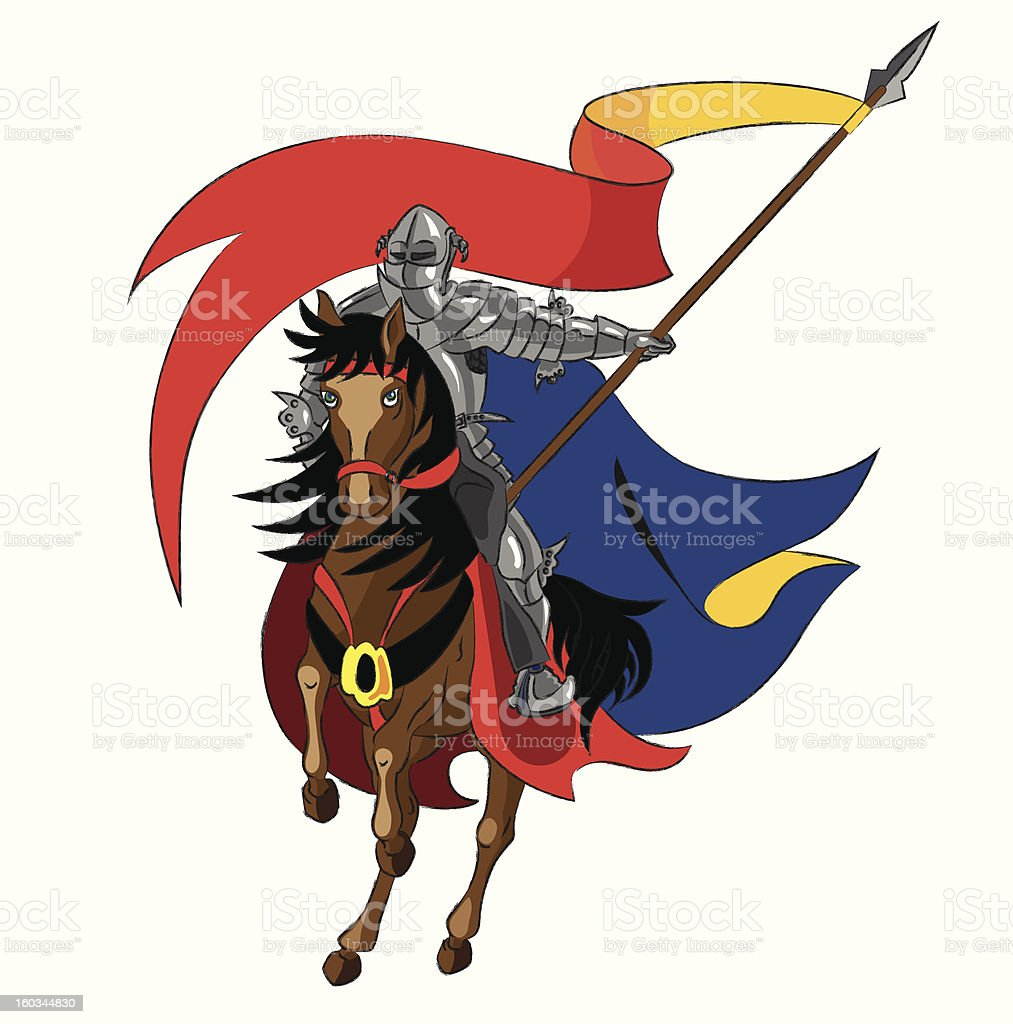 The knight royalty-free the knight stock vector art & more images of adult