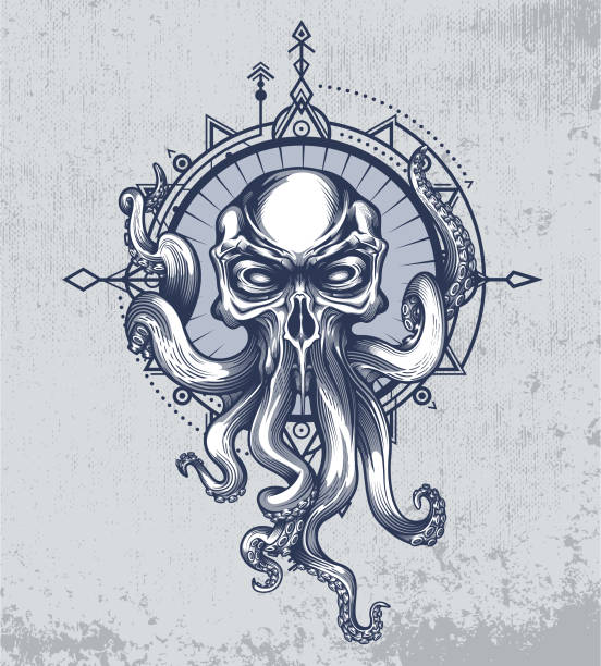 """the kraken quote poster - """"not all who wander are lost"""" - lost stock illustrations"""