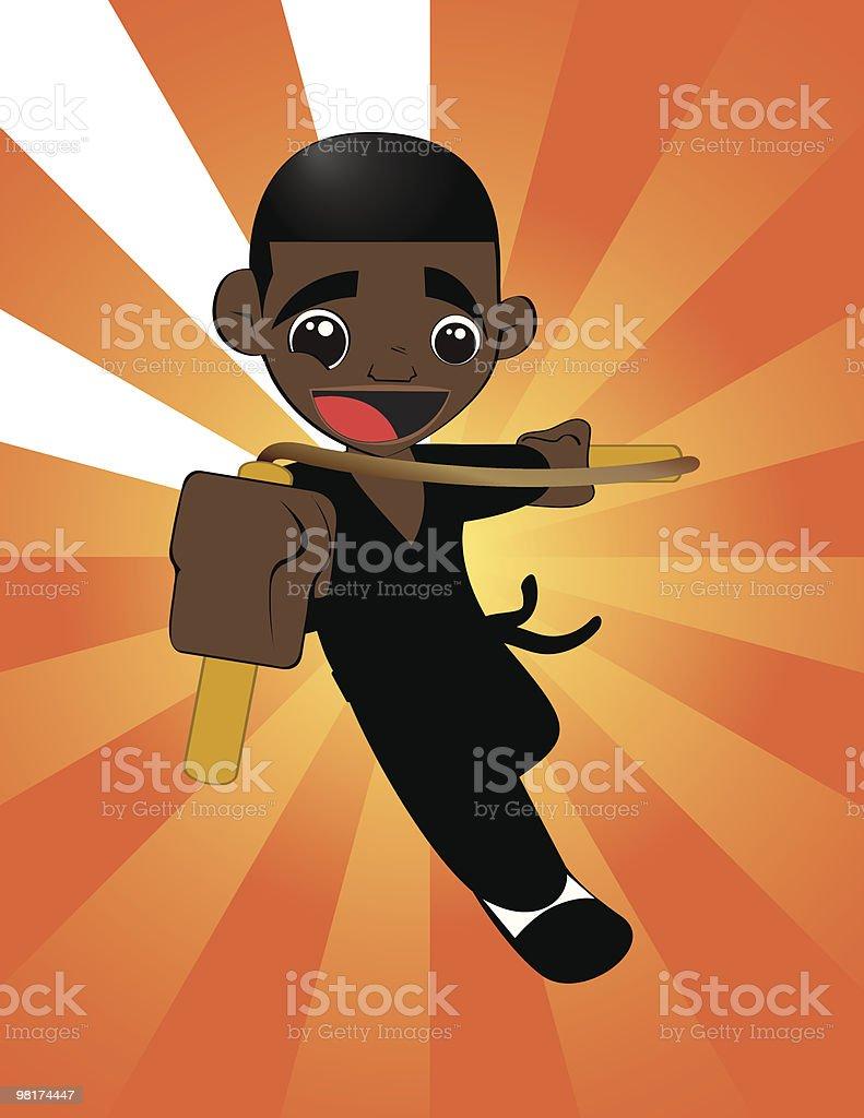 The Kung Fu Kid royalty-free the kung fu kid stock vector art & more images of african ethnicity