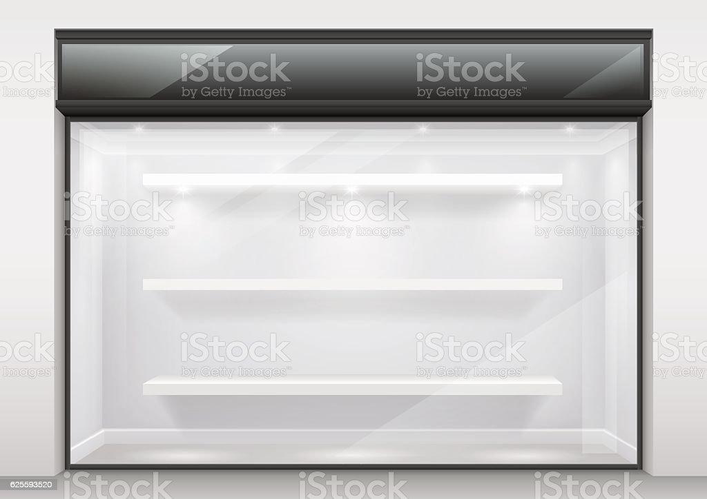 The large glass showcase vector art illustration