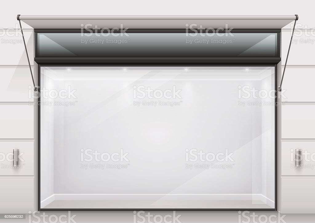 The large glass showcase vector art illustration