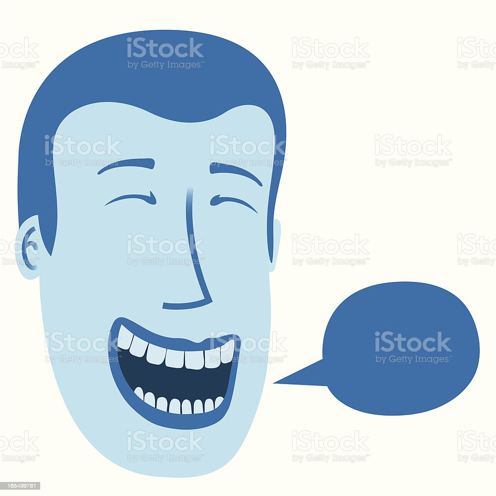 The Laugher vector art illustration