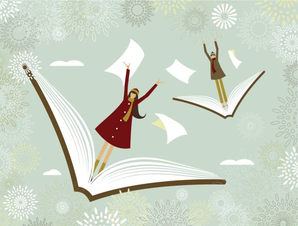 The learning adventure vector art illustration