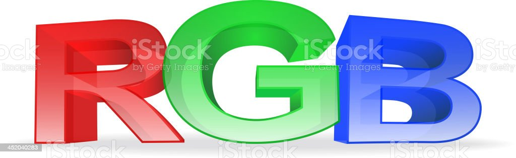 the letters rgb on white background royalty-free stock vector art