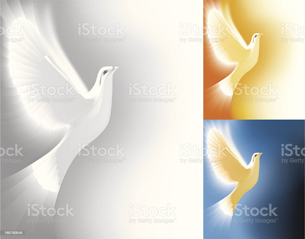 The Light Dove royalty-free stock vector art