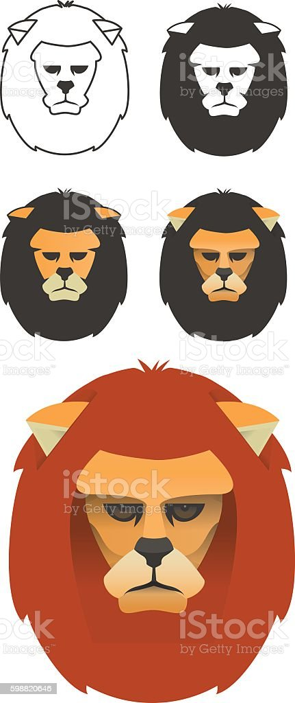 The Lion vector art illustration