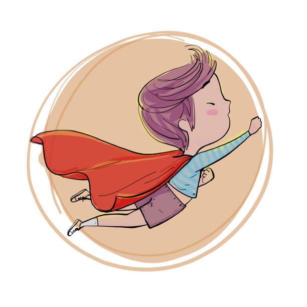 ilustrações de stock, clip art, desenhos animados e ícones de the little boy playing. - super baby