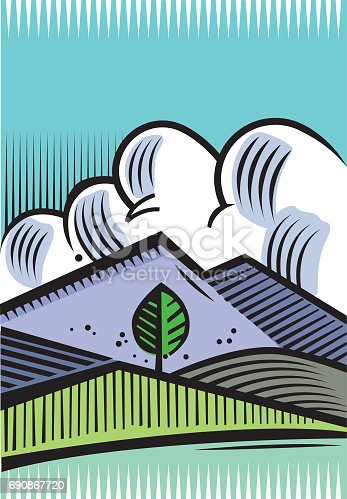 The lone tree vector illustration