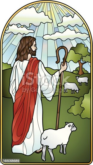 istock The Lord is My Shepherd Stained Glass 165068689