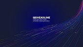 istock The luminous line that radiates upward, Internet science and technology big data background 1283427221