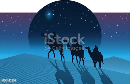 istock The Magi from the east follow the Star of Bethlehem 520163301