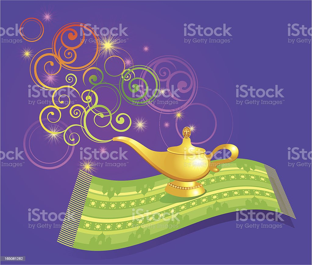 The Magic Lamp vector art illustration