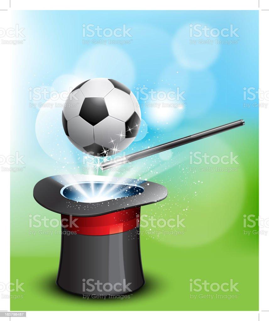 The magic of soccer ball royalty-free stock vector art