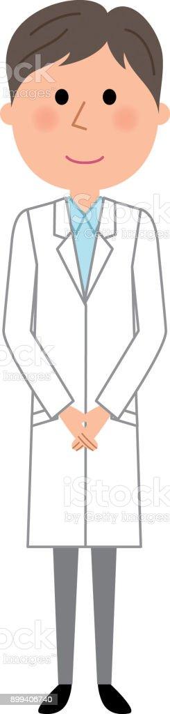 白衣の男性 ベクターアートイラスト