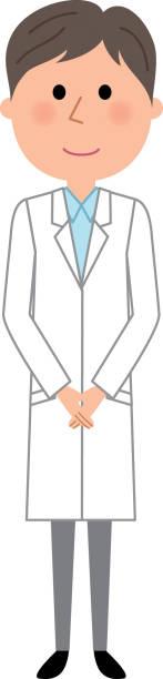 白衣の男性 - お礼点のイラスト素材/クリップアート素材/マンガ素材/アイコン素材