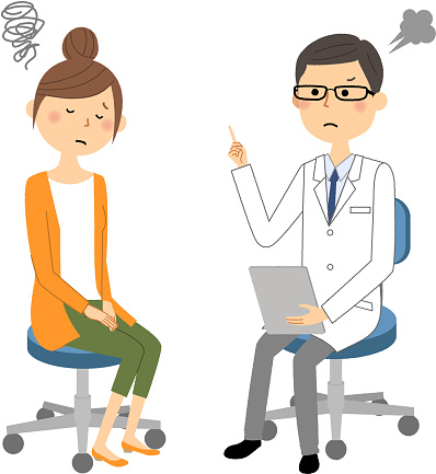 Het Mannetje Van De Witte Jas Medisch Onderzoek Voorzichtigheid Stockvectorkunst en meer beelden van Alleen Japans
