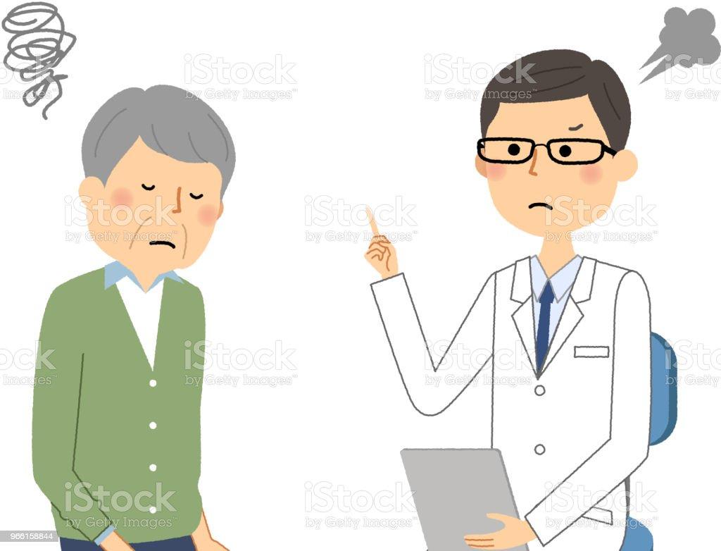 Manlign av vita pälsen, läkarundersökning, försiktighet - Royaltyfri Apotek vektorgrafik