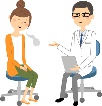 Manlign Av Vita Pälsen Läkarundersökning Suck-vektorgrafik och fler bilder på Apotek