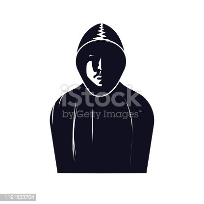 The silhouette of a person. Incognito. Vector illustration