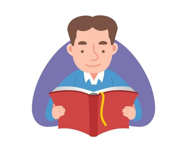 Der Mann liest ein Buch. – Vektorgrafik