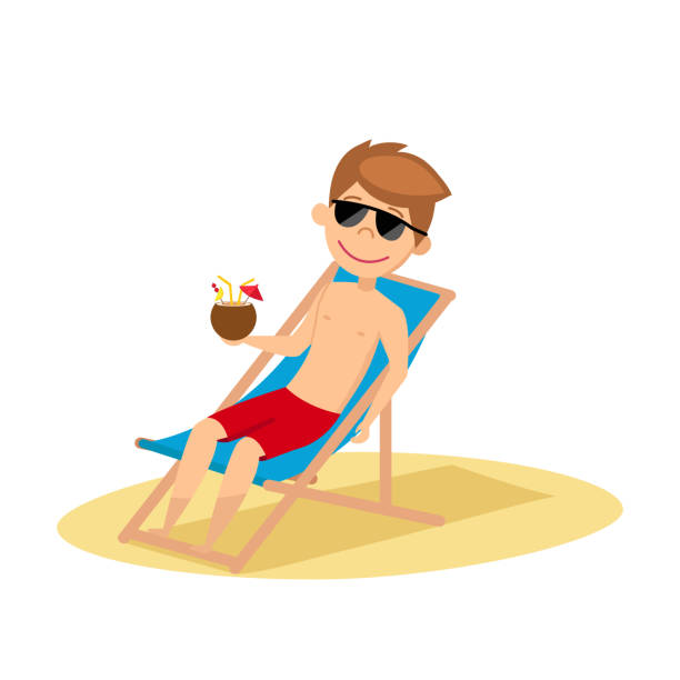 Best Deck Chair Illustrations Royalty Free Vector