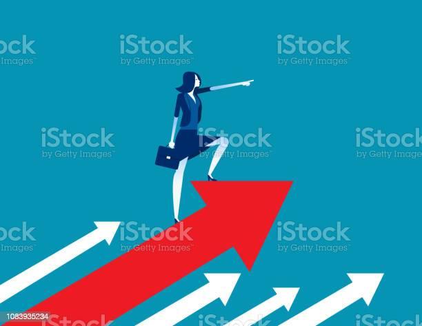 The Manager Concept Business Vector Illustration Leadership Successful Achievement - Arte vetorial de stock e mais imagens de Abstrato