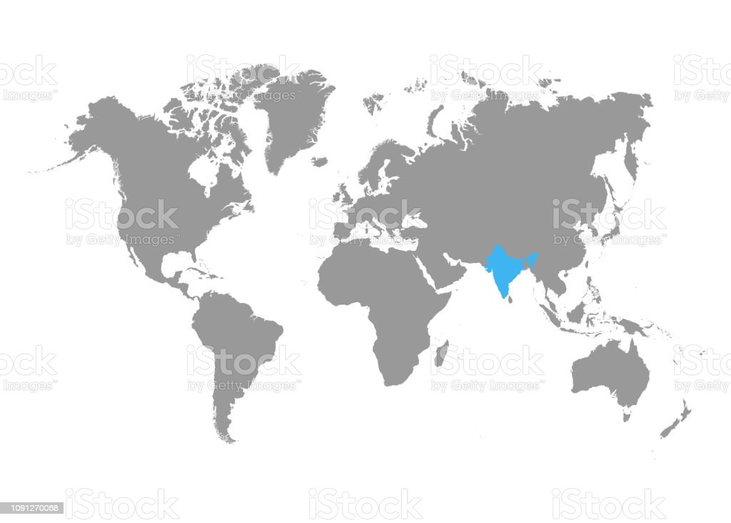The Map Of India Is Highlighted In Blue On The World Map ... India Location On World Map on mount everest on india map, tiger hill darjeeling map, ancient india hindu kush map, india map with cities, darjeeling estate map, india ethnic conflict map, india on a world map, india great indian desert map, tiger india map, india country location map, goa located on a map, germany location world map, india world heritage sites map, new delhi india on world map, india map equator, map of india on world map, sikhism located on the world map, india state on world map, india map to dubia, india travel locations,