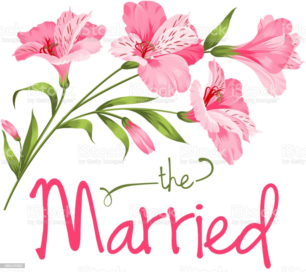 La tarjeta de boda - ilustración de arte vectorial