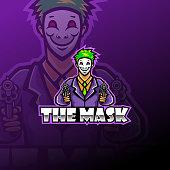 Illustration of The mask esport mascot logo