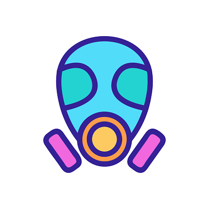 The mask mask is an icon vector. Isolated contour symbol illustration