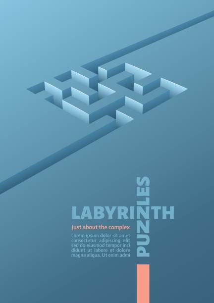 die labyrinth-cube - labyrinthgarten stock-grafiken, -clipart, -cartoons und -symbole