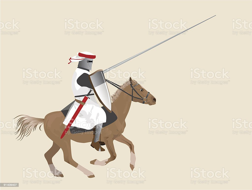 The Medieval Knight On A Horse Stock Illustration Download Image Now Istock
