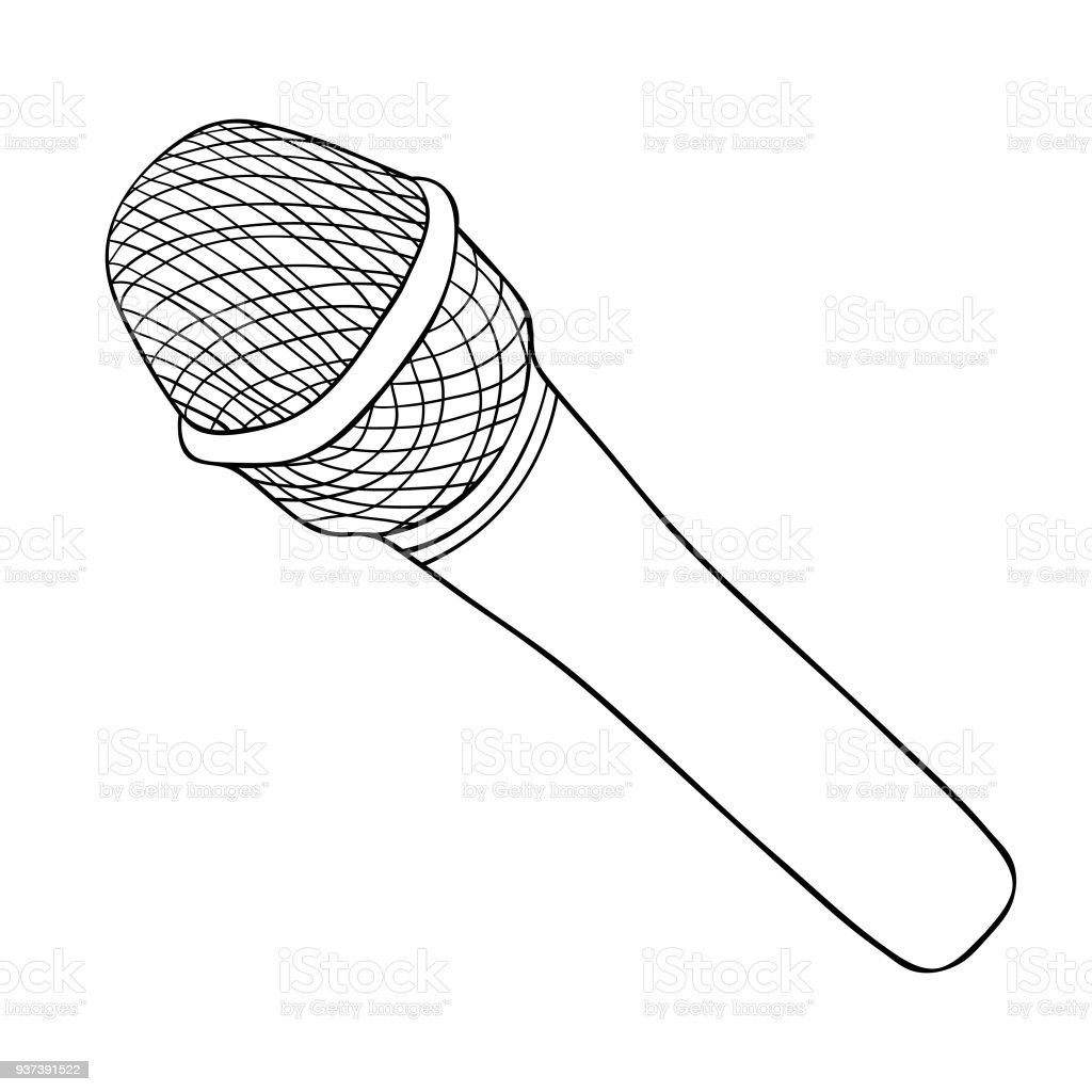 the microphone for public speaking vector illustration