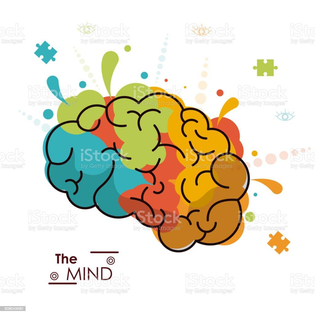 The Mind Colo Brain Creativity Invention Design Stock Vector Art