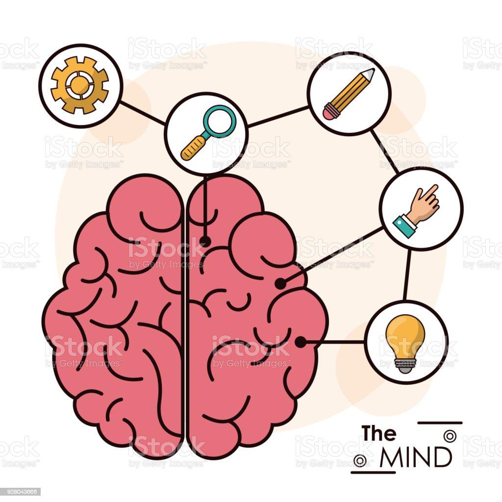 Ilustración de La Idea Creativa Inteligente Mente Cerebro Humano ...