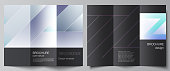 The minimal vector illustration of editable layouts. Modern creative covers design templates for trifold brochure or flyer. Creative modern cover concept, colorful background